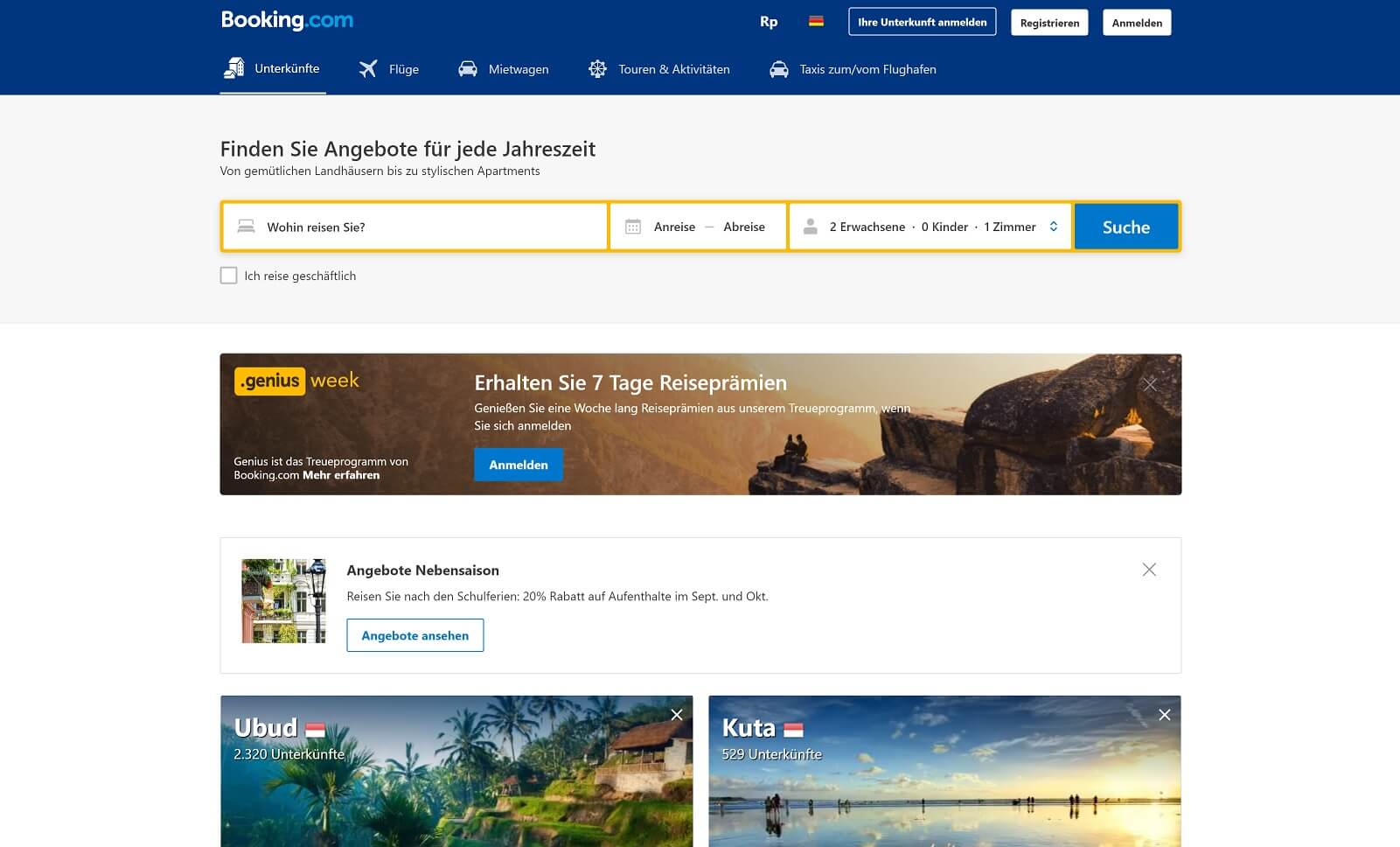 Conversion-Optimierung bei Booking.com