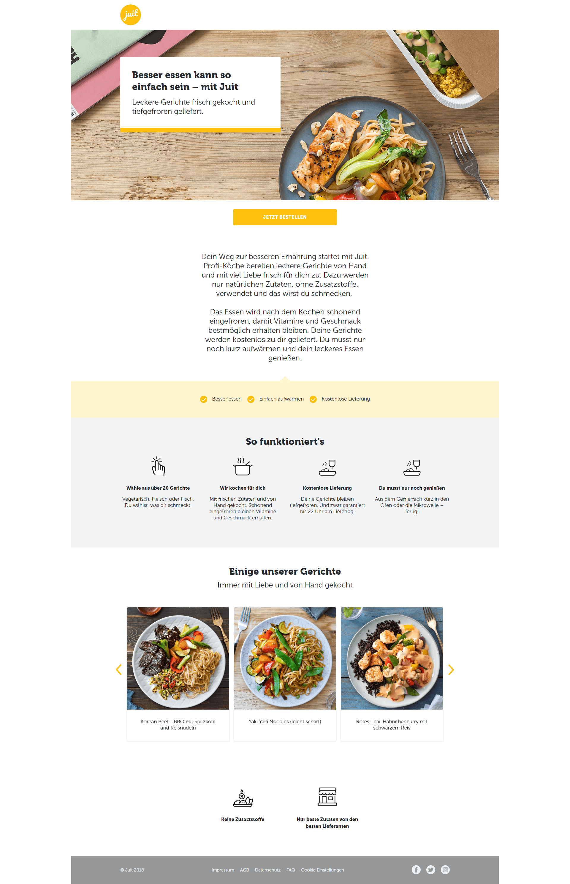 Beispiel Landingpage für Click-Throughs